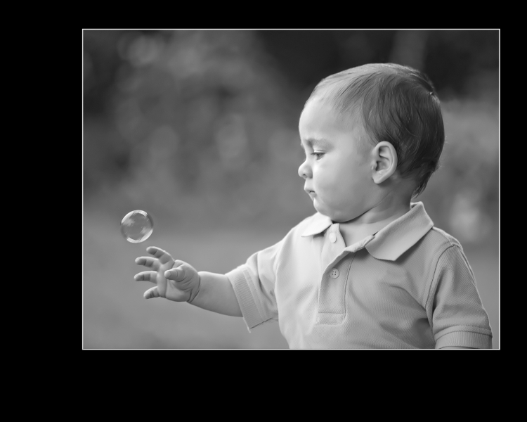 Boy and a bubble