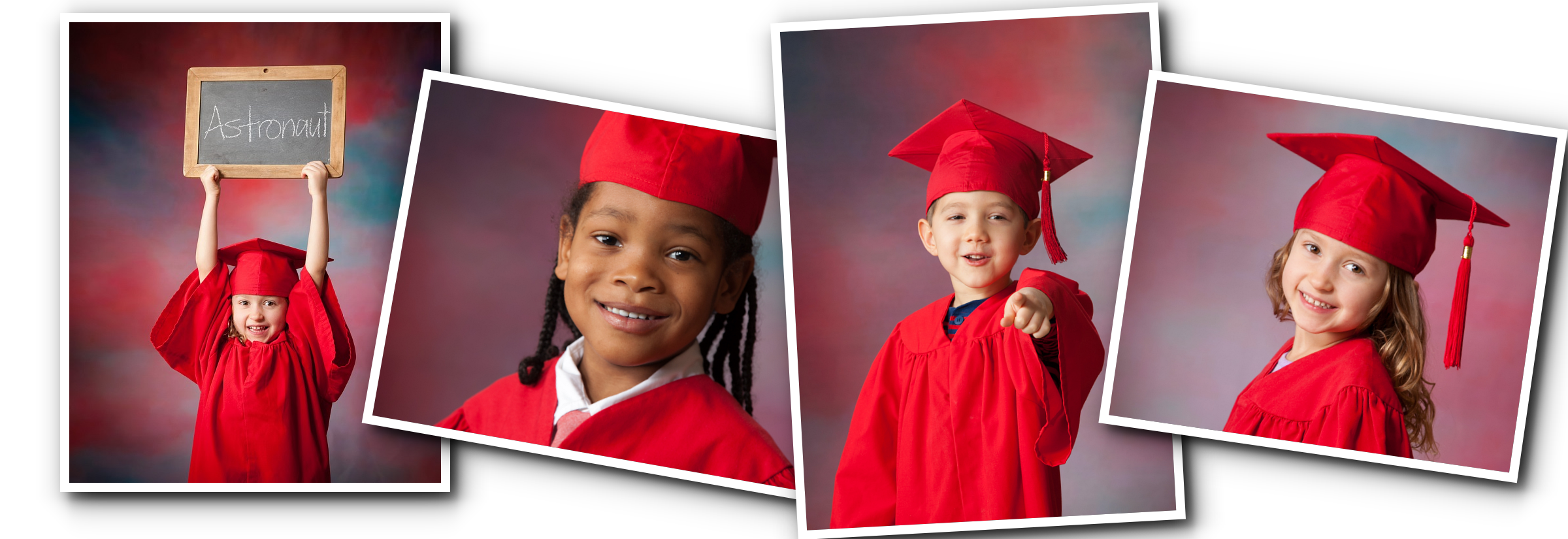 row of pics cap and gown | Spoiled Rotten Photography