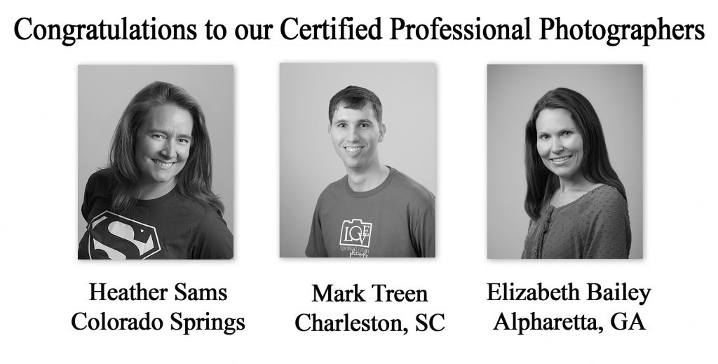 Congratulations to our Certified Professional Photographers ...