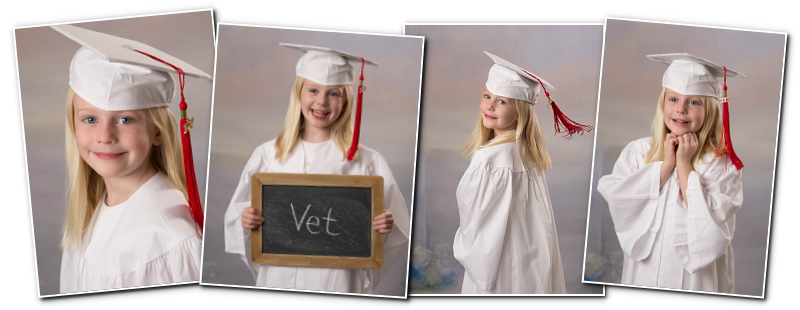 Kindergarten Cap and Gown Portraits at Lindsay Lane Christian ...