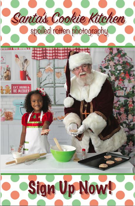 Santa Portraits In Santa S Cookie Kitchen Spoiled Rotten Photography